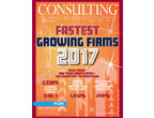 Clearwater is featured in Consulting Magazine's 2017 Fastest Growing Firms