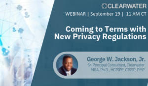 Coming to terms with new privacy regulations