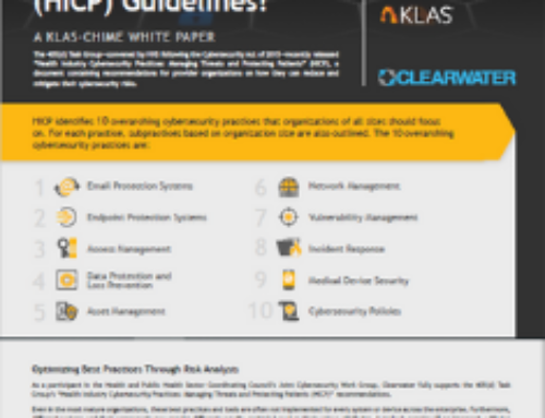 KLAS-CHiME: How Aligned Are Provider Organizations with the Health Industry Cybersecurity Practices (HICP) Guidelines?