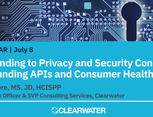 Responding to Privacy and Security Concerns Surrounding APIs and Consumer Health Apps : July 8, 2020   11:00am–12:00pm CT